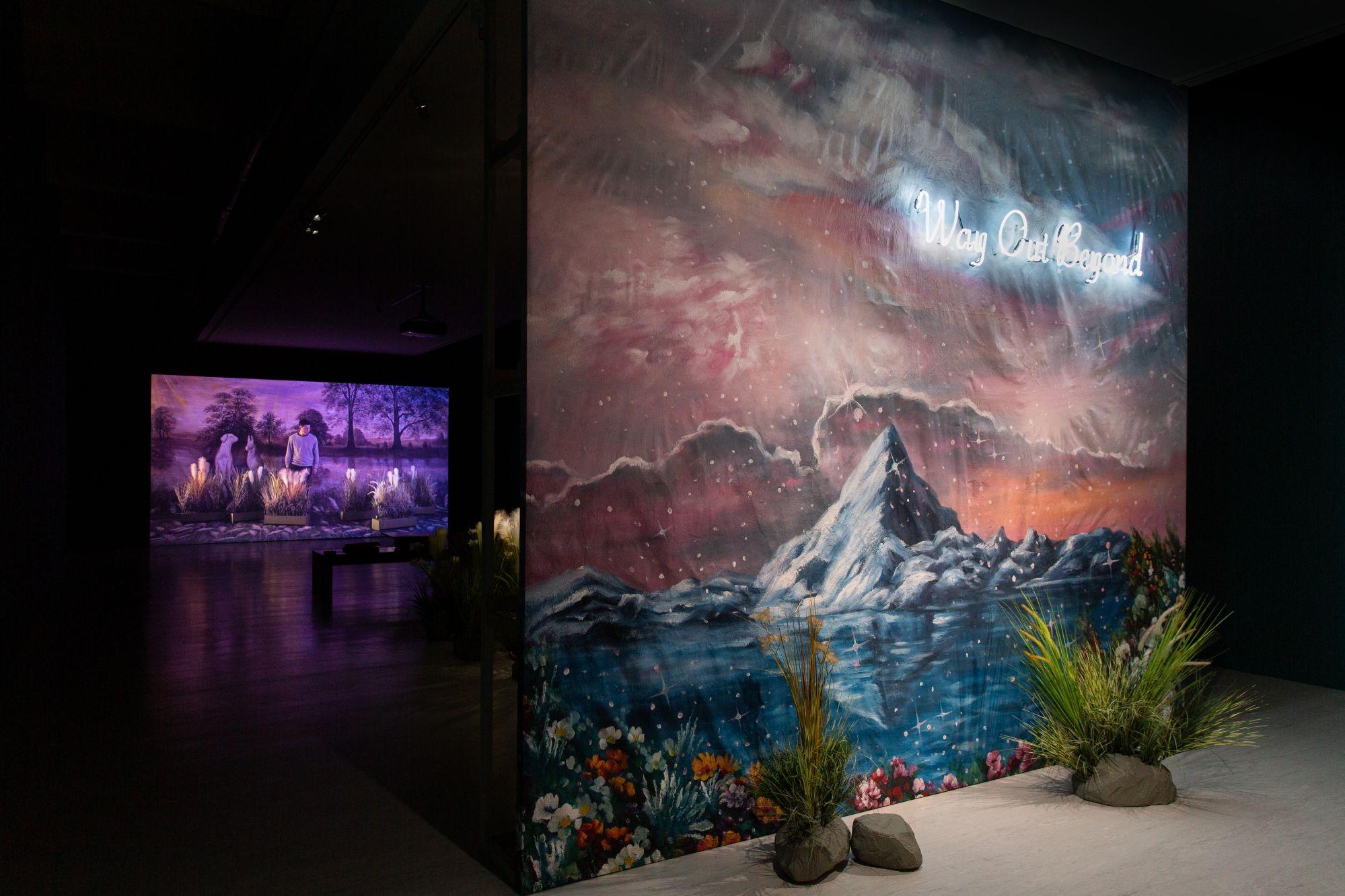 「心神出遊─廖祈羽個展」展場,臺北市立美術館提供。
