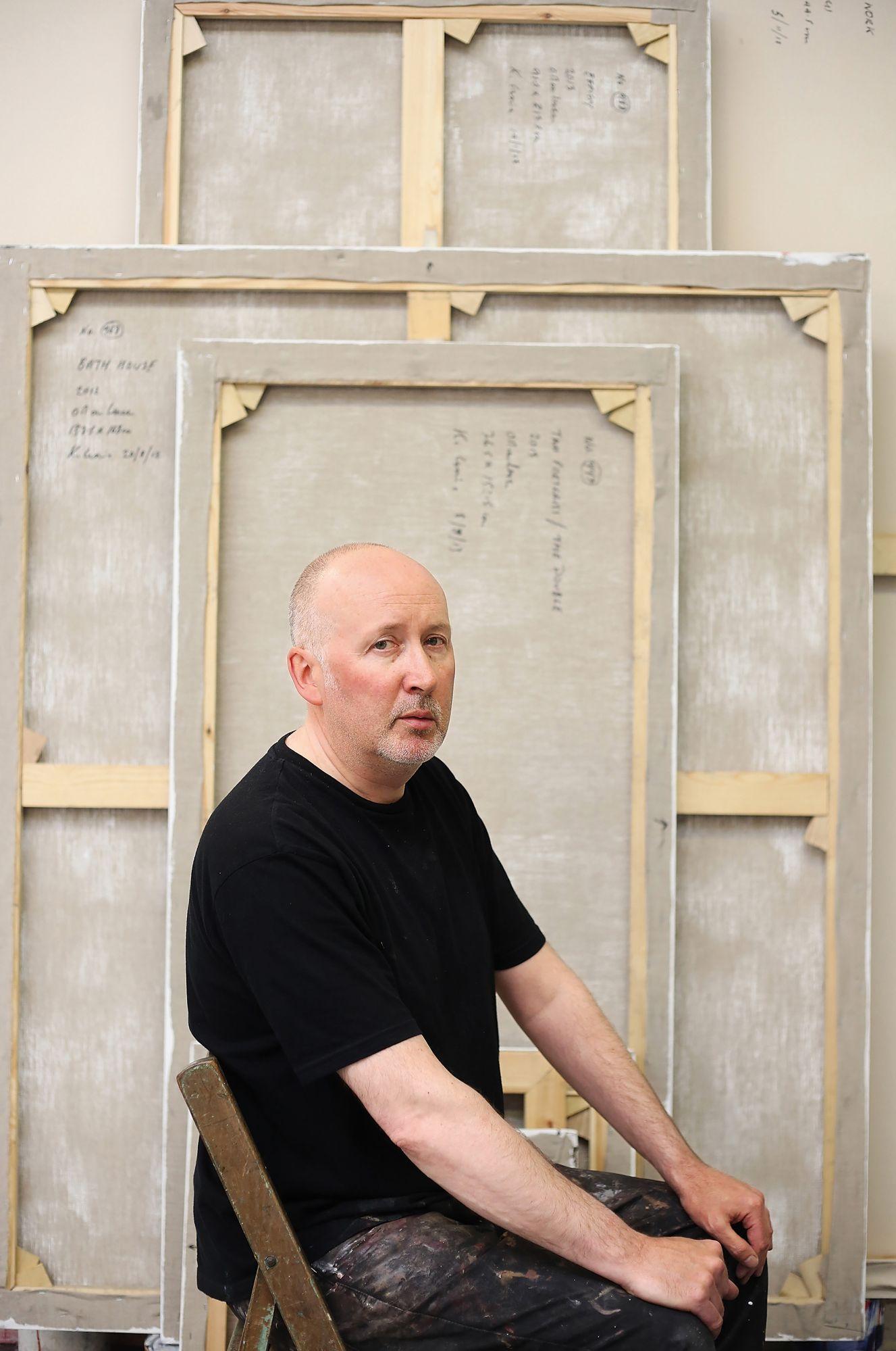 畫家Ken Currie位於Glasgow的個人工作室。(Photo: Jeremy Sutton-Hibbert/Getty images)