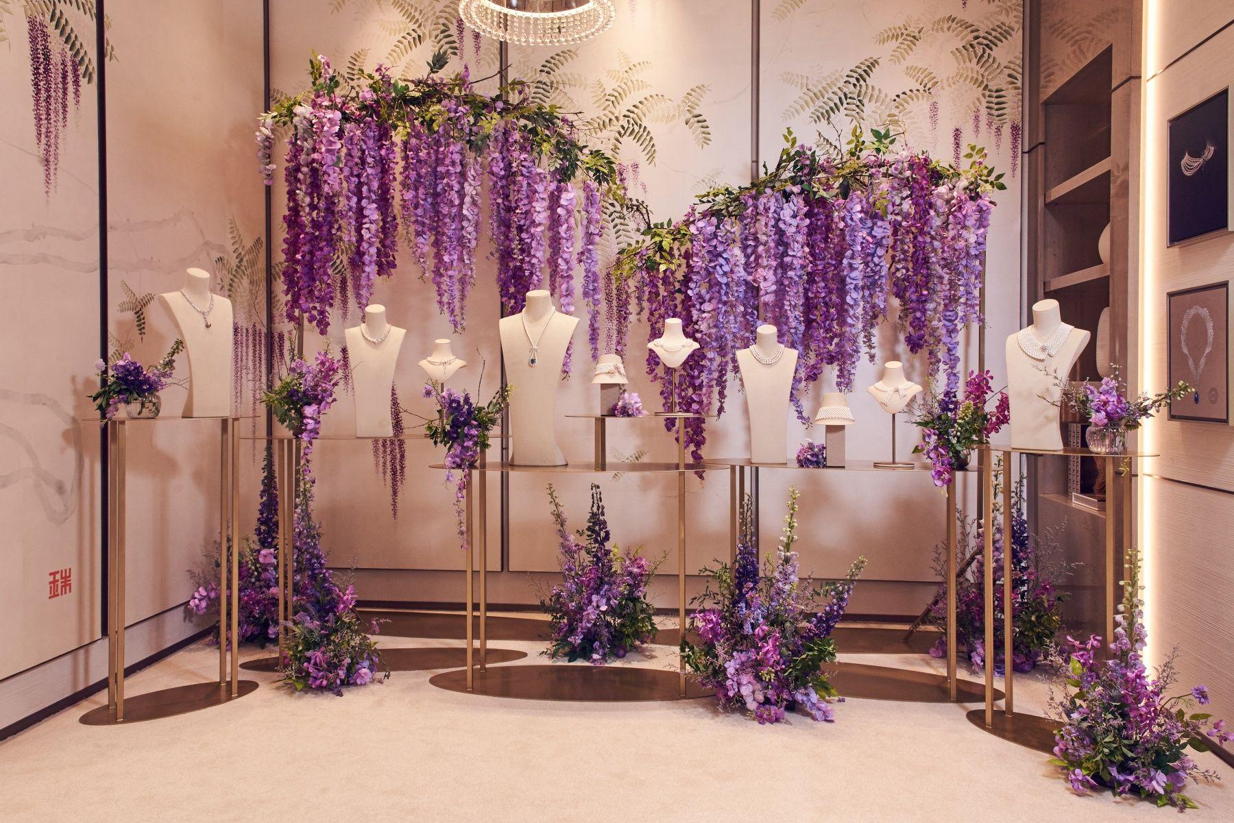 My Mikimoto, My Style 頂級珠寶展,以春天的繽紛優雅氛圍改裝,創作出嶄新的頂級珠寶展間。