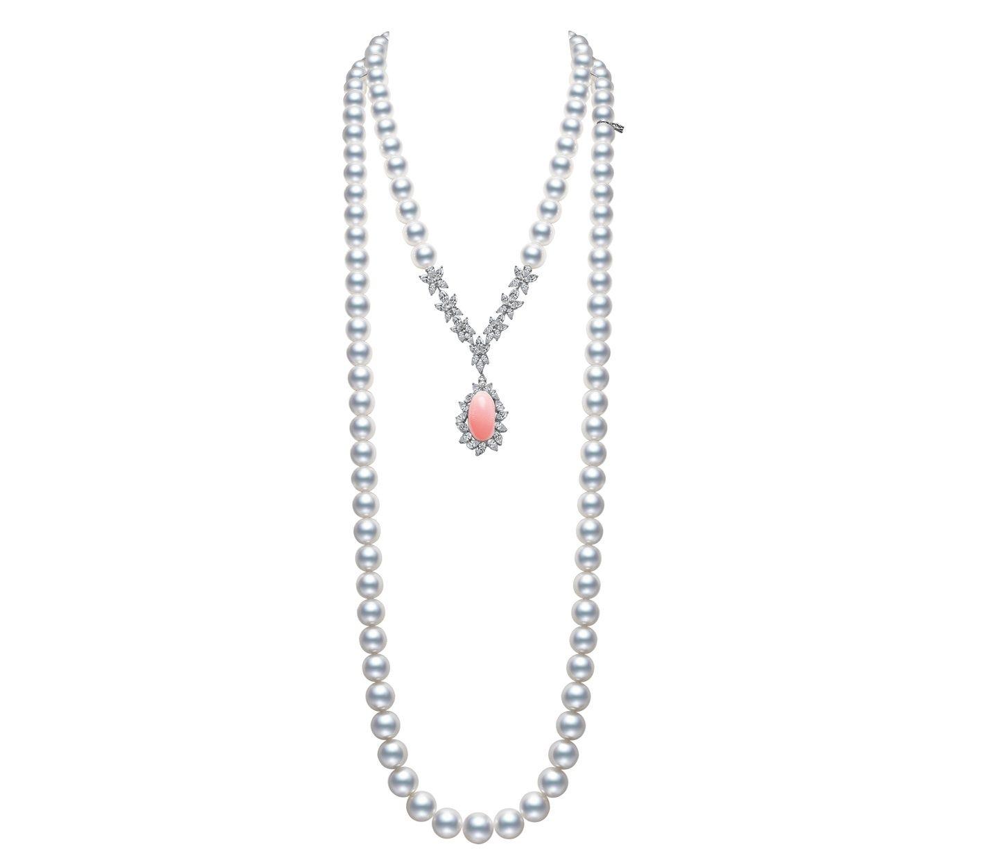 Jeux de Rubans 頂級珠寶系列,孔克珍珠蝴蝶結造型胸針,參考價格 NT$2,900,000