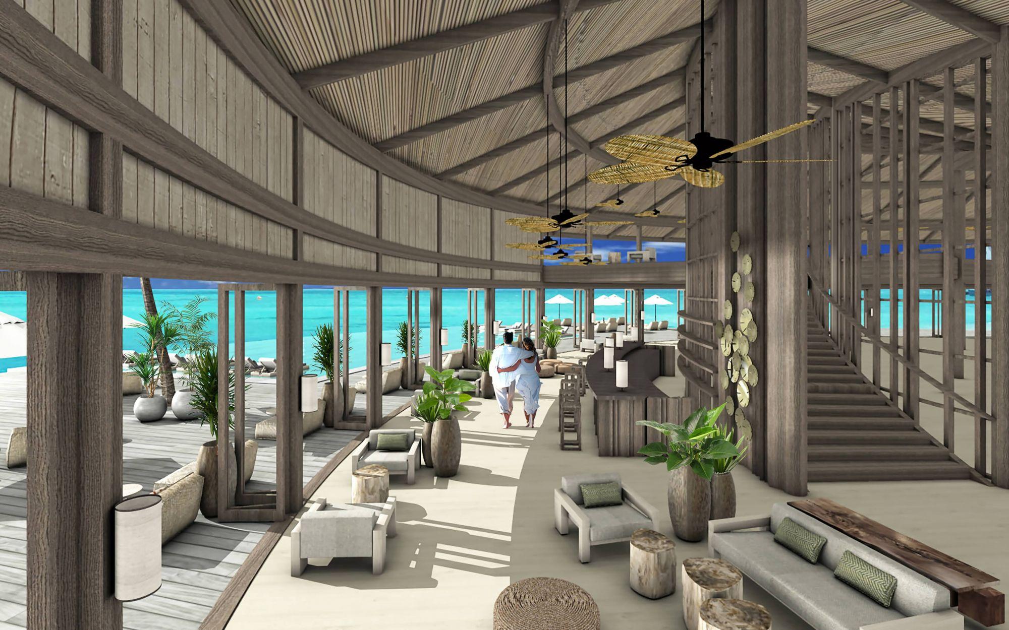 馬爾地夫五星級 Kagi Maldives Spa Island 奢華度假村的的水療中心 Baani Spa 採360度環狀設計。