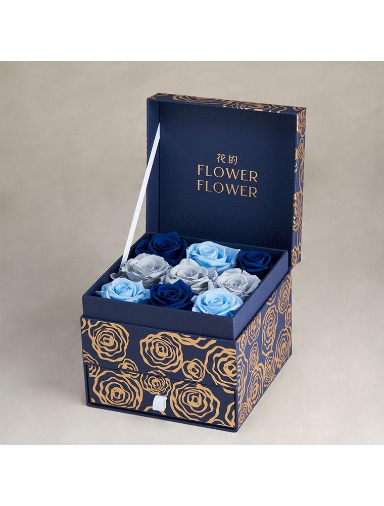 Ocean Breeze 哥倫比亞永恆玫瑰花珠寶禮盒。