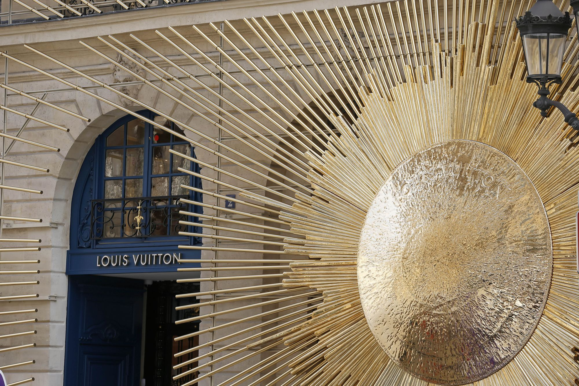 PARIS, FRANCE - OCTOBER 11:  Louis Vuitton's New Boutique is seen at Place Vendome on October 11, 2017 in Paris, France. The opening of this new boutique of the luxury brand Louis Vuitton marks a return to origins, where the founder Louis Vuitton opened his first store more than 160 years ago in this neighborhood.  (Photo by Chesnot/Getty Images)