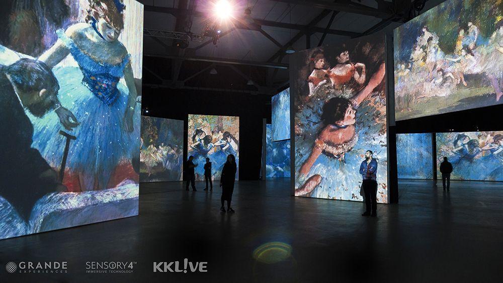 2021「印象‧莫內—光影體驗展」。(圖片提供/KKLIVE)