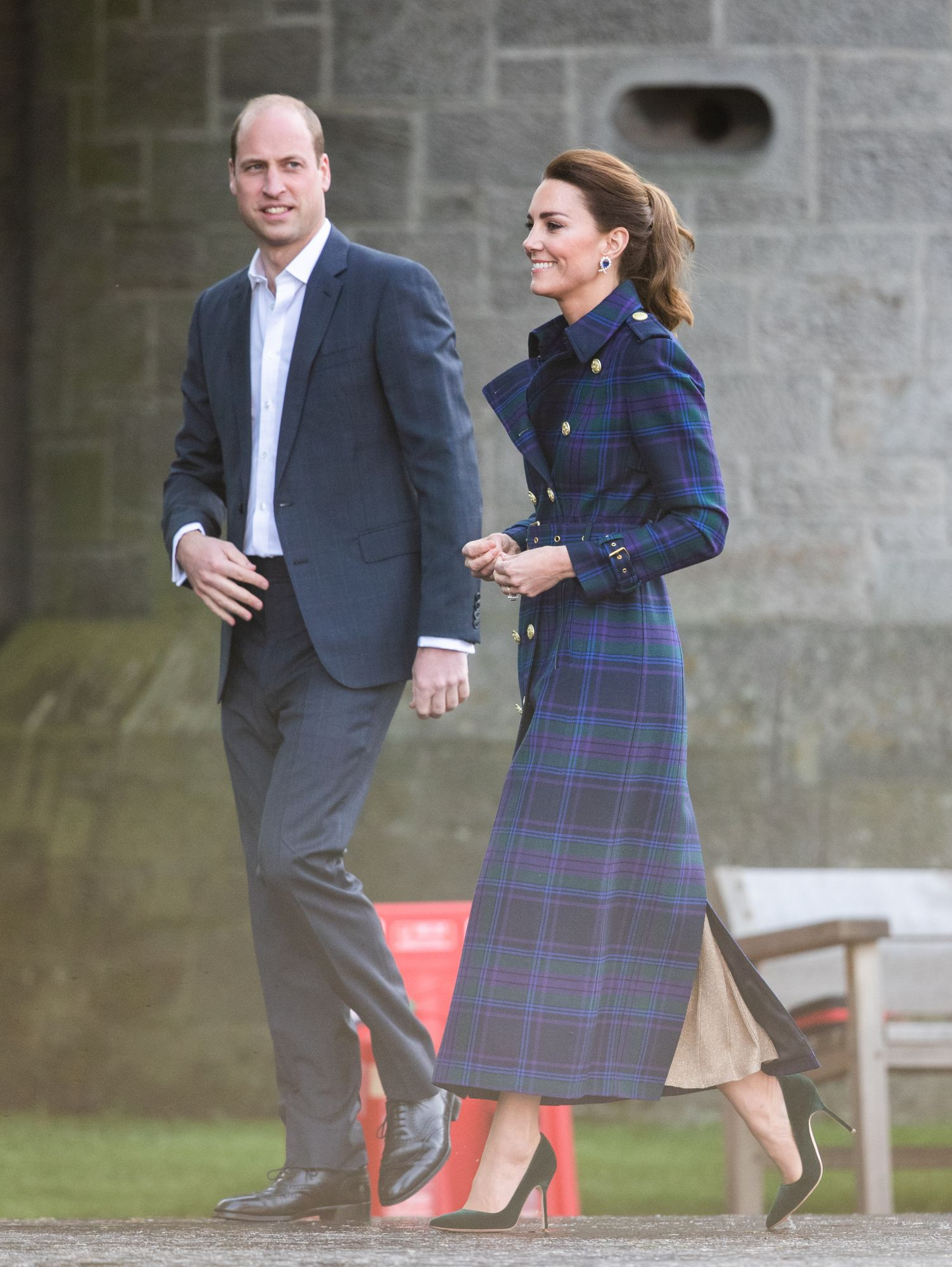 EDINBURH, SCOTLAND - MAY 26: Prince William, Duke of Cambridge and Catherine, Duchess of Cambridge host NHS Charities Together and NHS staff at a unique drive-in cinema to watch a special screening of Disney's Cruella at the Palace of Holyroodhouse on day six of their week-long visit to Scotland on May 26, 2021 in Edinburgh, Scotland. (Photo by Pool/Samir Hussein/WireImage)