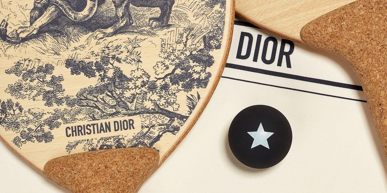 Dior 推奢華遊戲小物:拼圖、沙灘球拍組⋯居家防疫生活不無聊!
