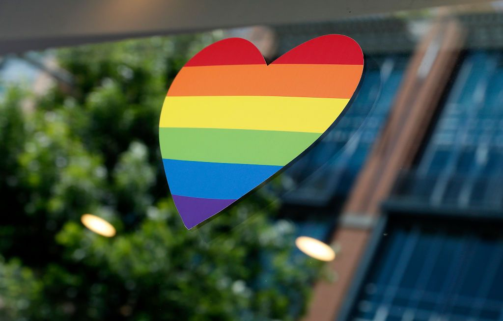 WASHINGTON, DC - JUNE 24: Rainbow colored displays decorate the streets and store fronts in and around Dupont Circle to celebrate Pride Month on June 24, 2020 in Washington, DC. (Photo by Paul Morigi/Getty Images)