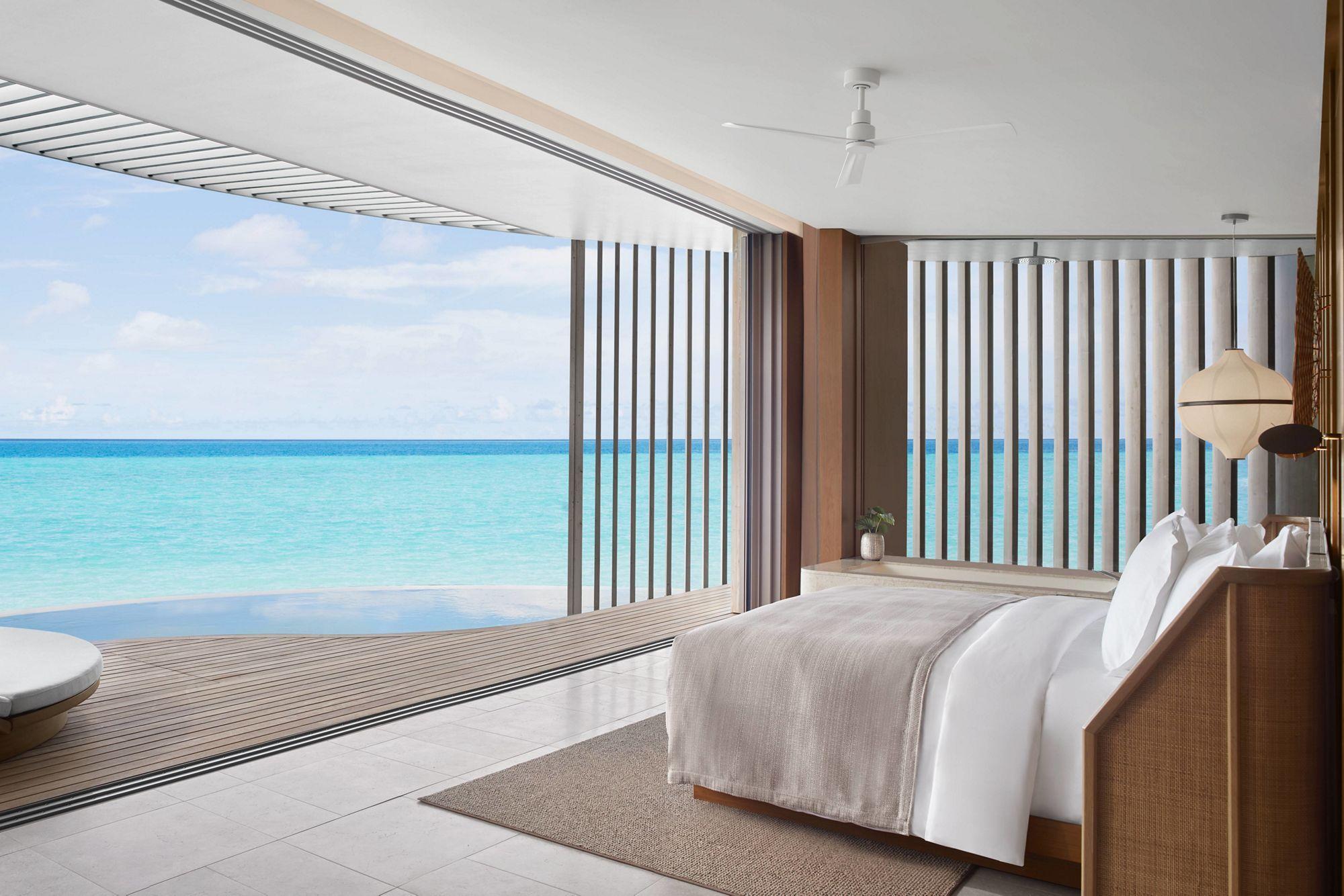 Ritz-Carlton 馬爾地夫的設計風格極簡自然。