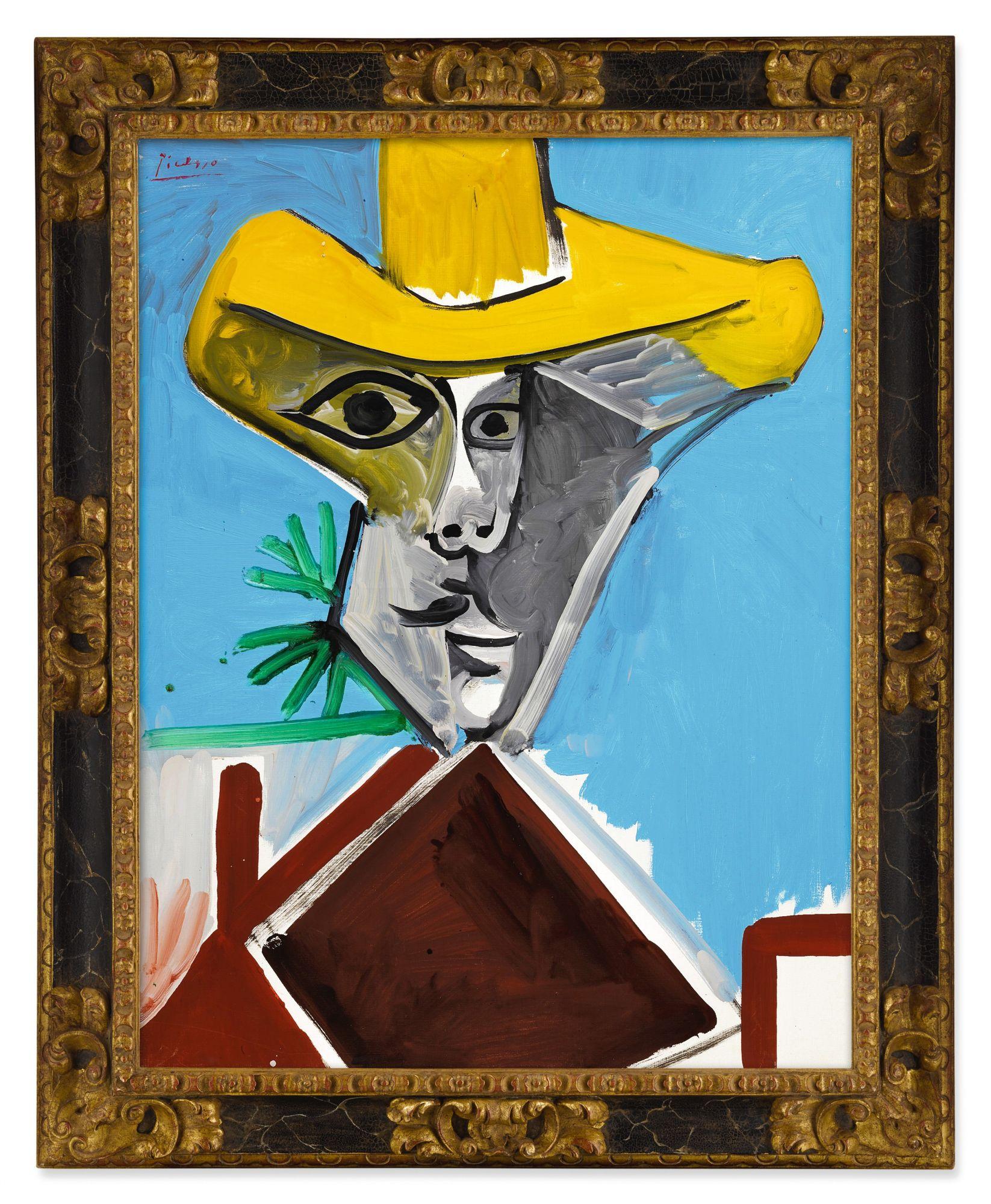 巴布羅・畢加索(Pablo Picasso)《男子半身像》