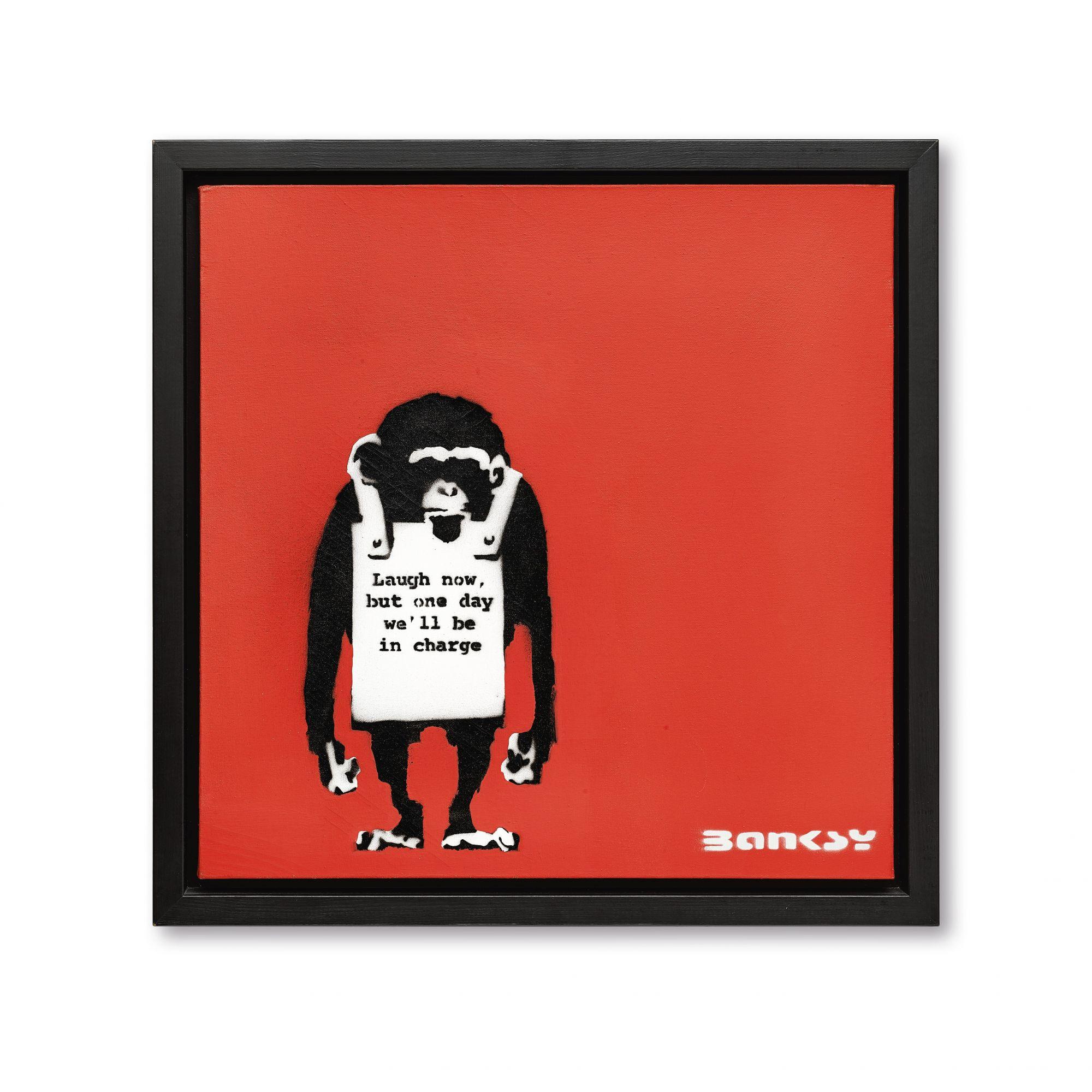 班克斯(Banksy) 《現在儘管笑吧,終有一天我們 將為主宰者》
