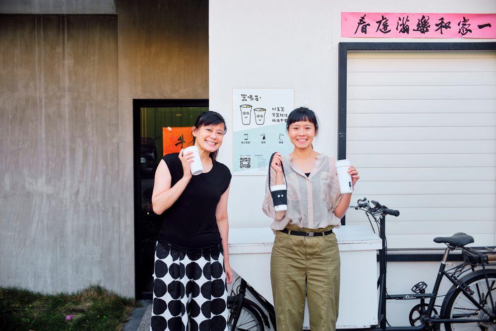 好盒器創辦人,宋宜臻(左)、李翊禾(右)。/ 攝影陳彥呈
