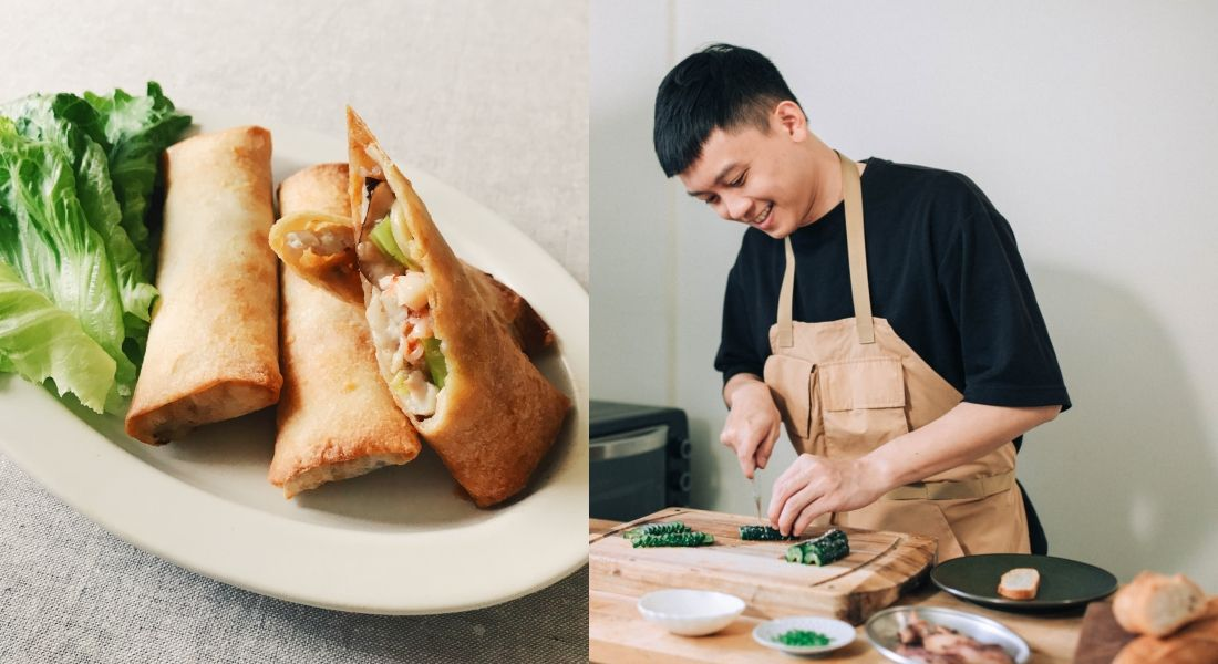 Tatler自煮防疫料理教室:不務正業男子Ayo「酥炸海鮮春捲」簡單步驟奢華上桌!