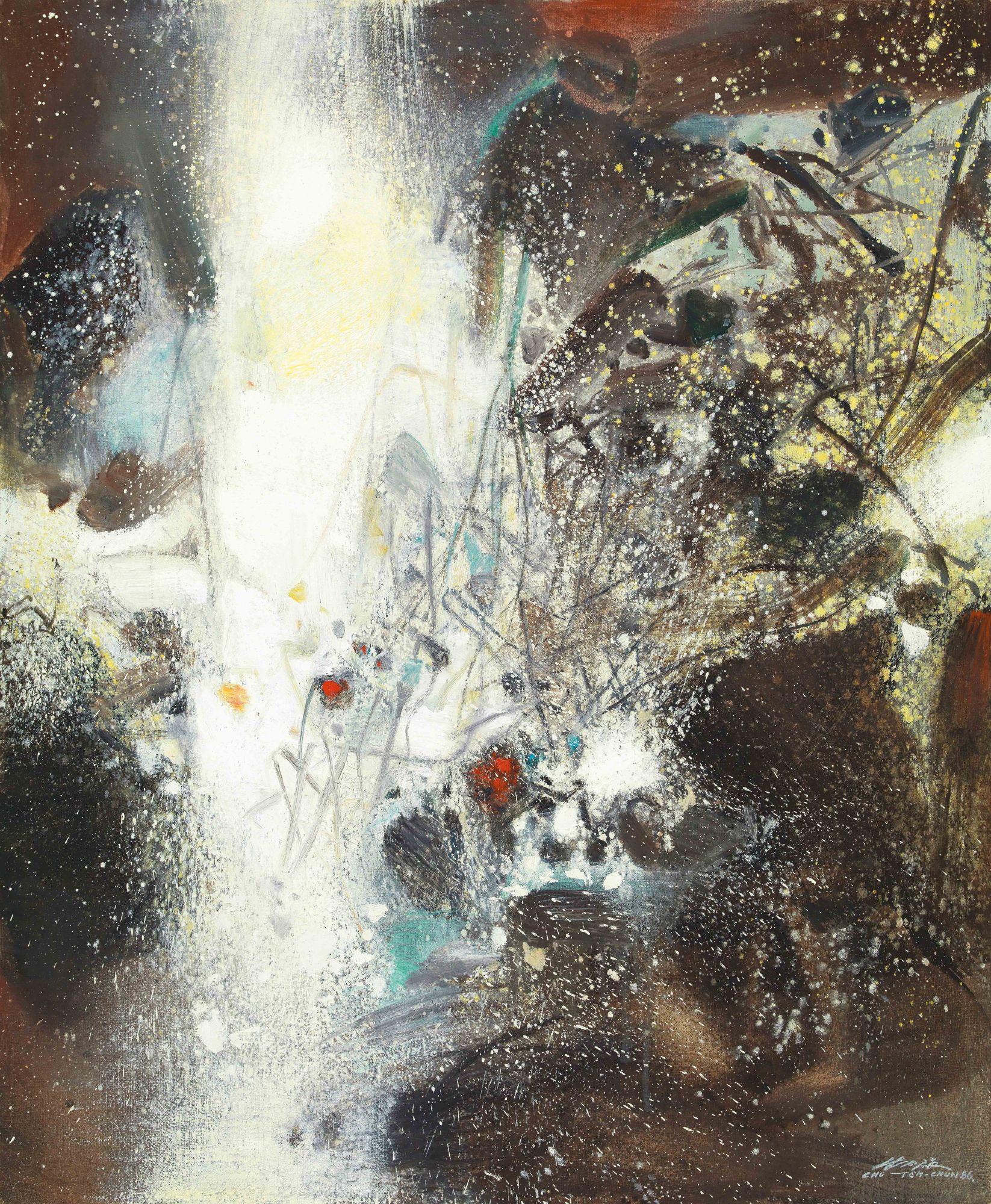 朱德群《21.11.1986(雪景)》。