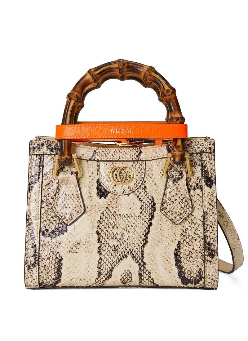 Gucci Diana 白色蟒蛇皮手提包 $131,400