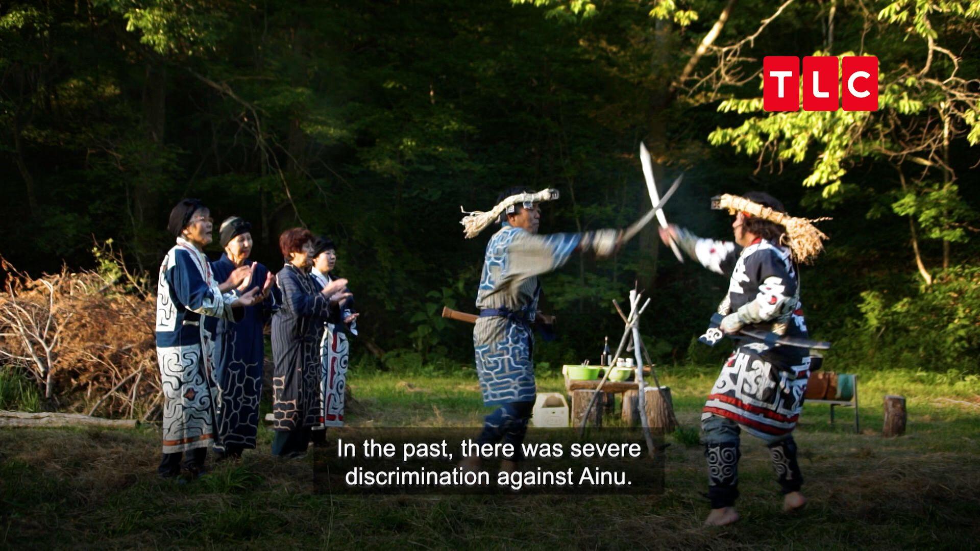 北海道愛奴人的傳統舞蹈,是為了防止這裡的惡神為惡作亂。