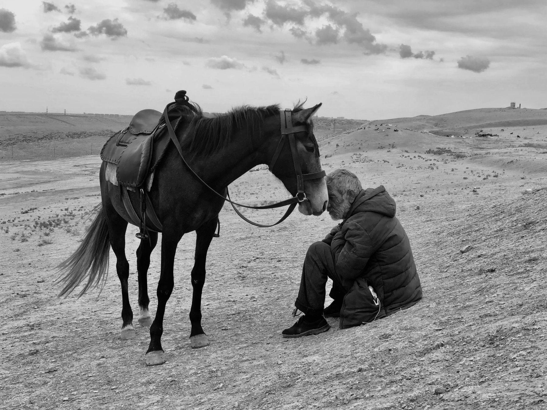 攝影師獎第一名則為來自印度的 Sharan Shetty,他的攝影作品 Bonding 由 iPhone X 拍攝一個男人與他的馬在一片荒蕪中,帶給彼此支持與安慰。