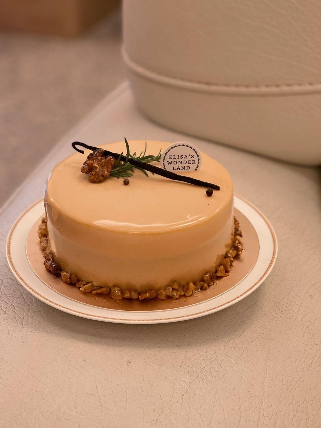 「Elisa\'s Wonderland 愛莉莎的夢遊仙境」焦糖南瓜巧克力慕斯蛋糕