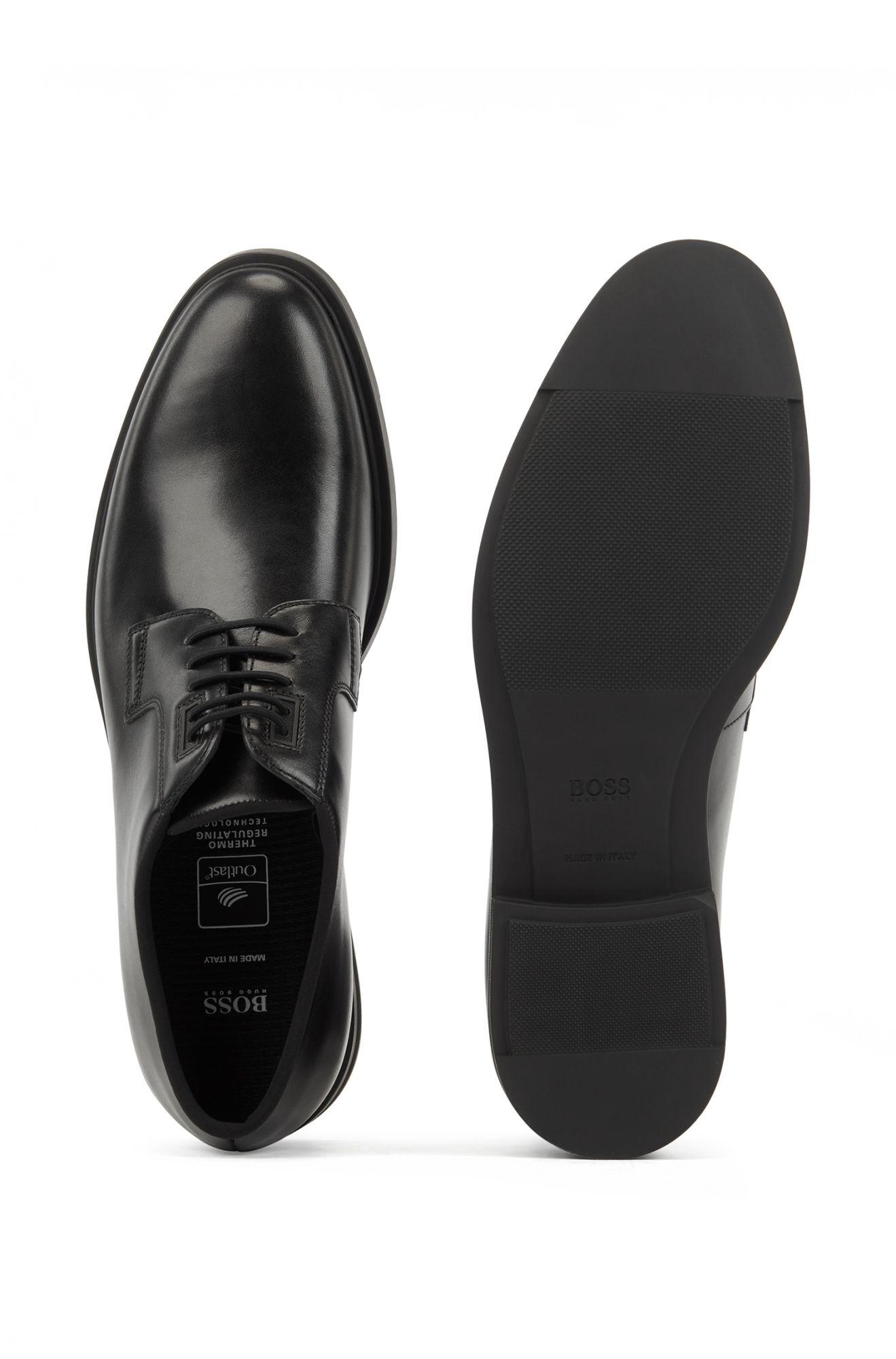 BOSS 黑色德比皮鞋