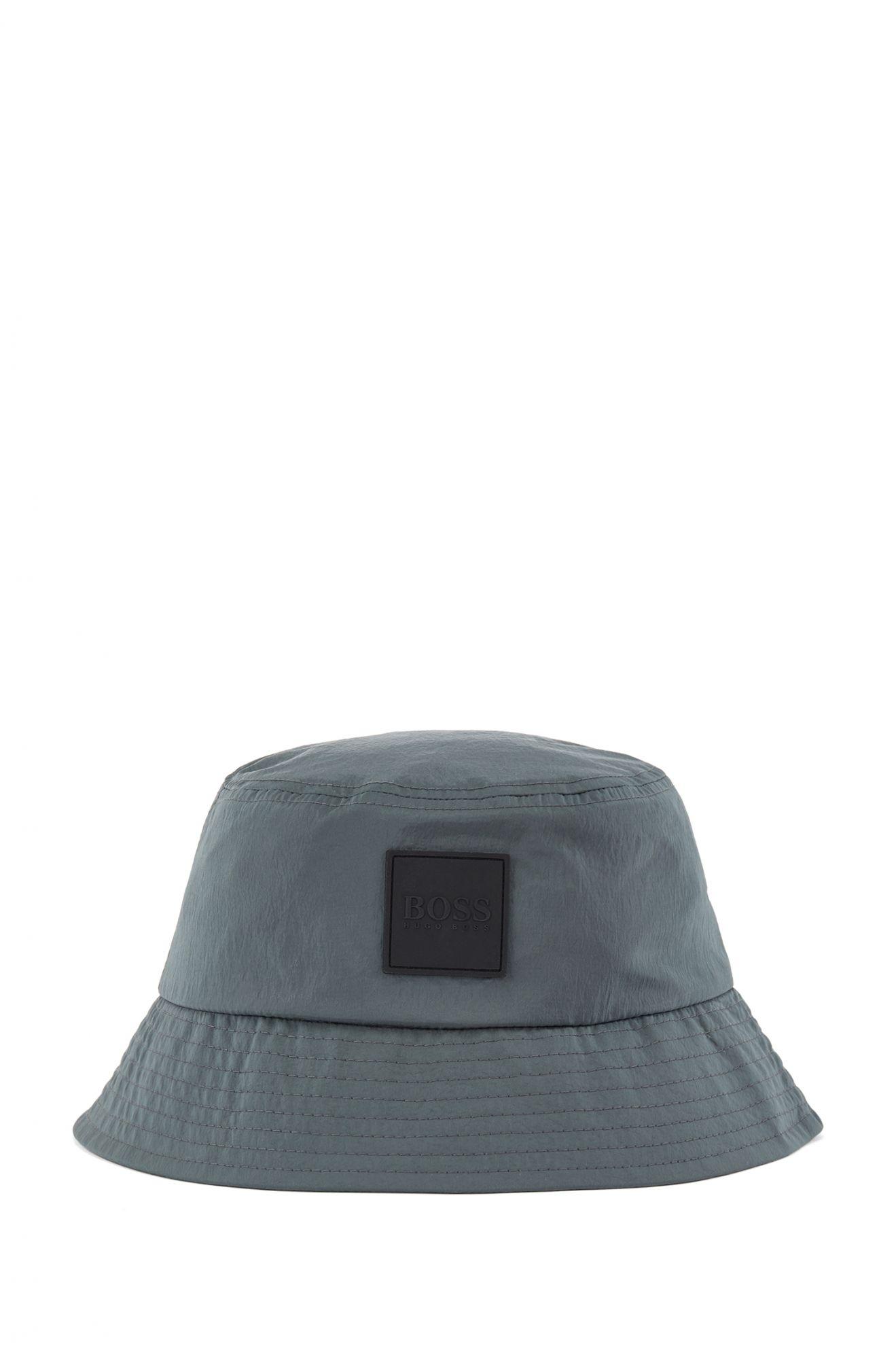 BOSS 深墨綠皺棉漁夫帽