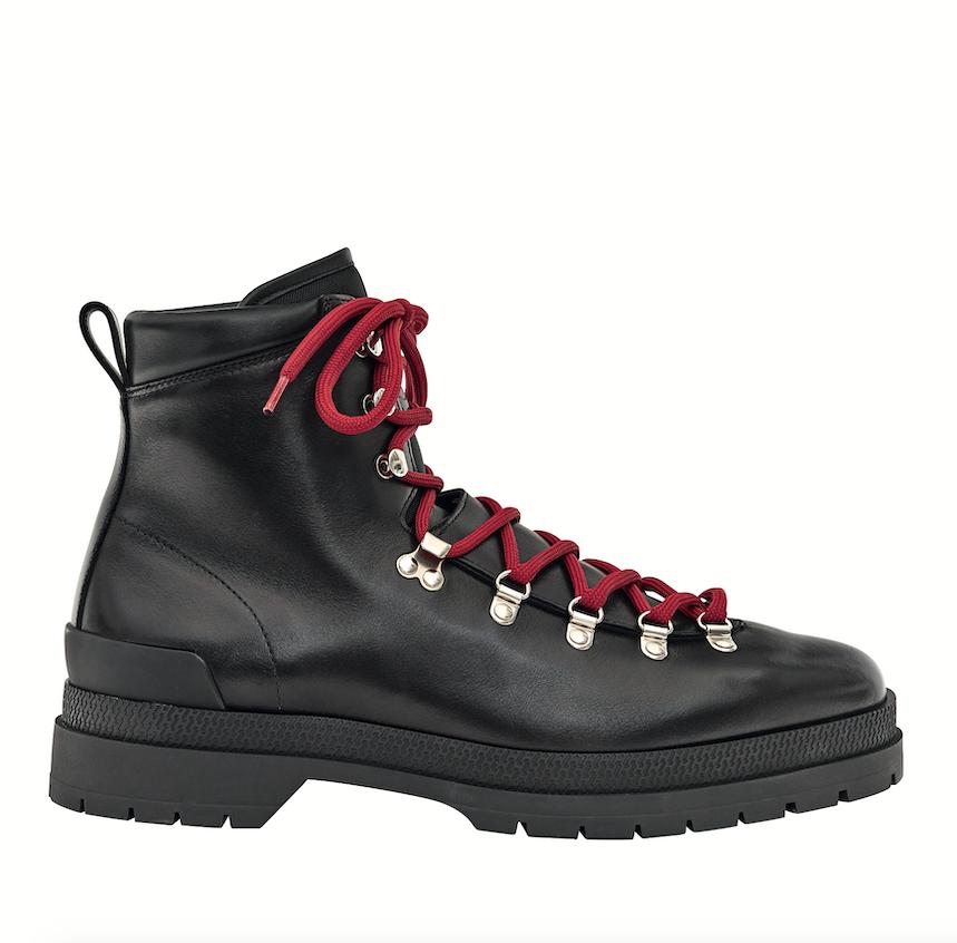 Hermès 牛皮綁帶踝靴