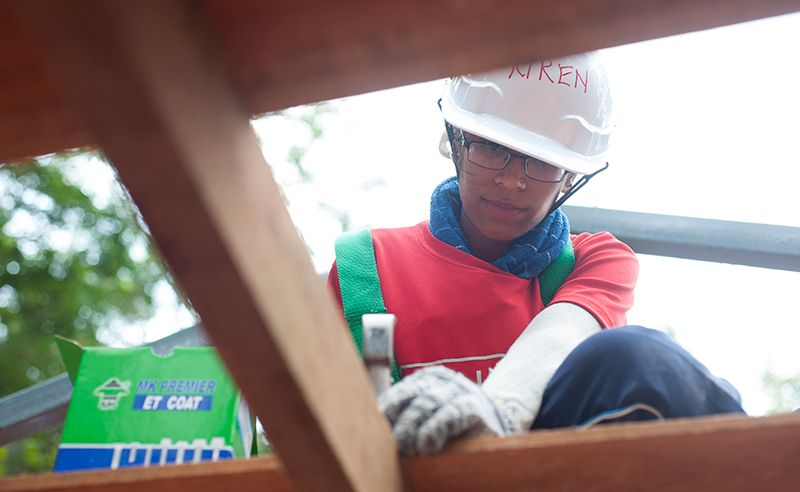 Kiren Ravi was one of our youngest builders.