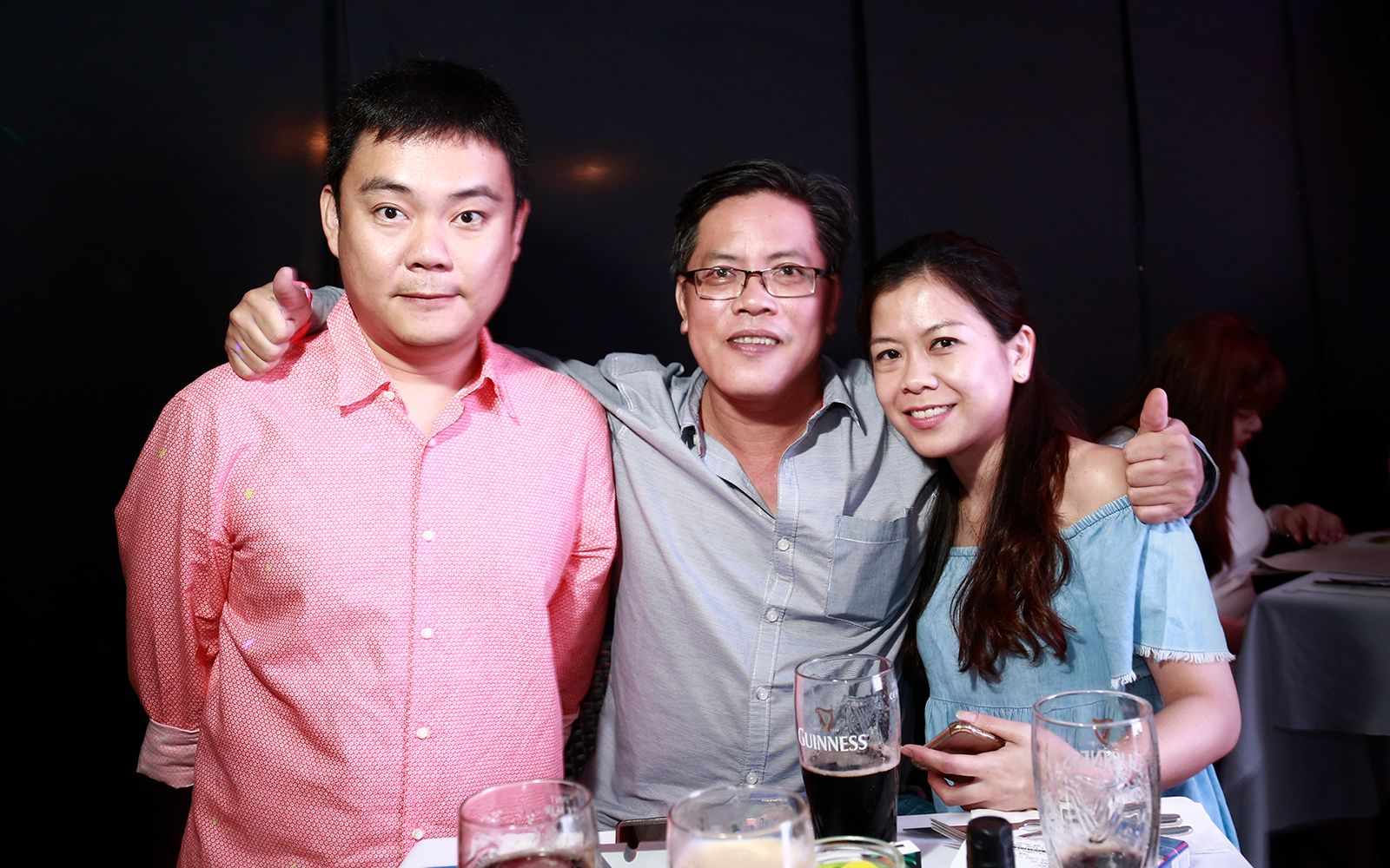 YH Lee, Sunny Yap and Lydia Leong