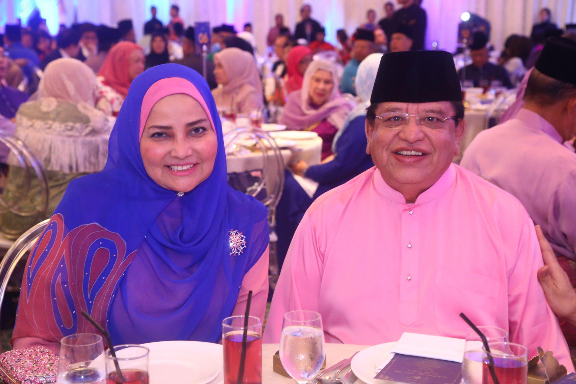 Datin Seri Utama Anggraini Sentiyaki and Datuk Seri Utama Tengku Adnan bin Tengku Mansor