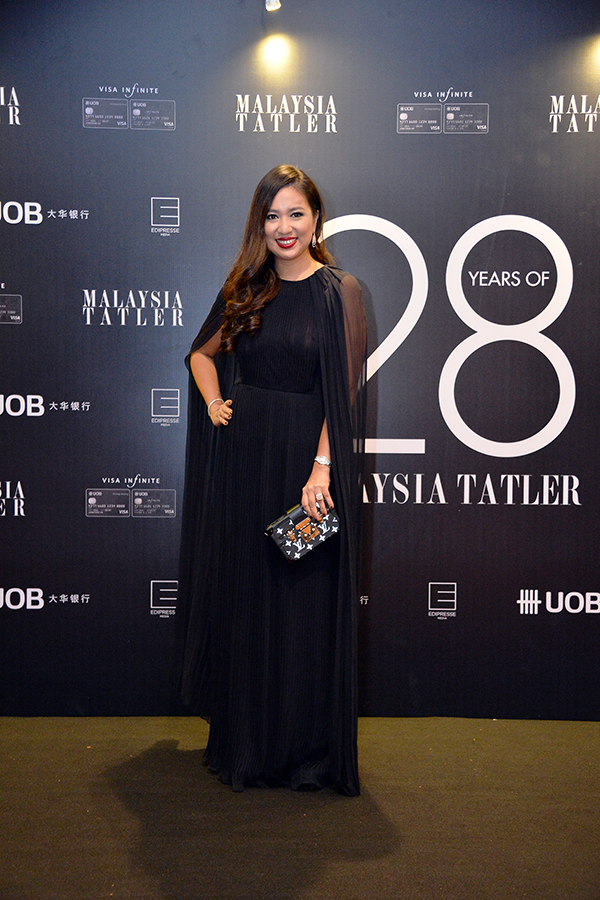 Datin Yvette Kang in Oscar de la Renta