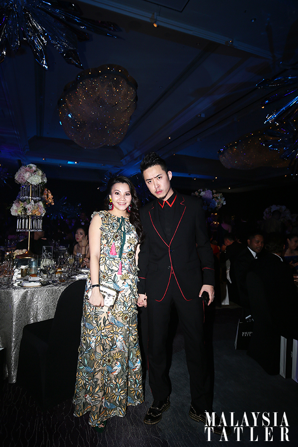 Sally Quah in Kloset dress and accessories, and Bryan Loo
