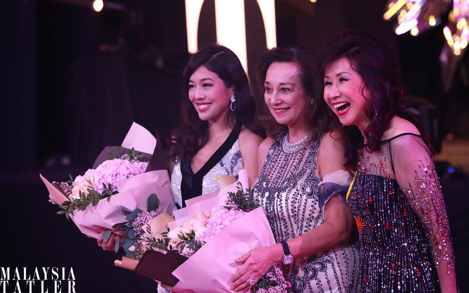 Shirena Hamzah, Tunku Dara Naquiah and Florence Fang