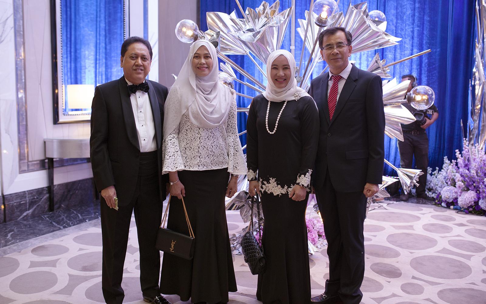 Syed Abu Hanifah, Sharifah Zuraina Bt Syed Zainol Rashid, Datin Ungku Ashiela and Datuk Wira Roslan Abdul Rahman