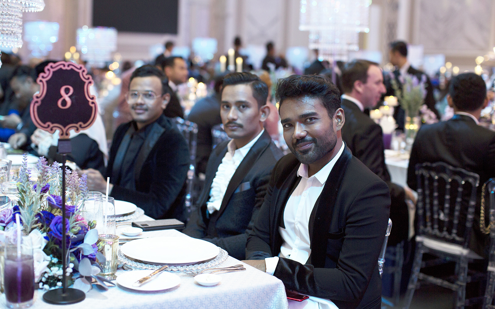 Designers of Dr Fazliana's dress, Rizman Nordin and Wan Ruzaini
