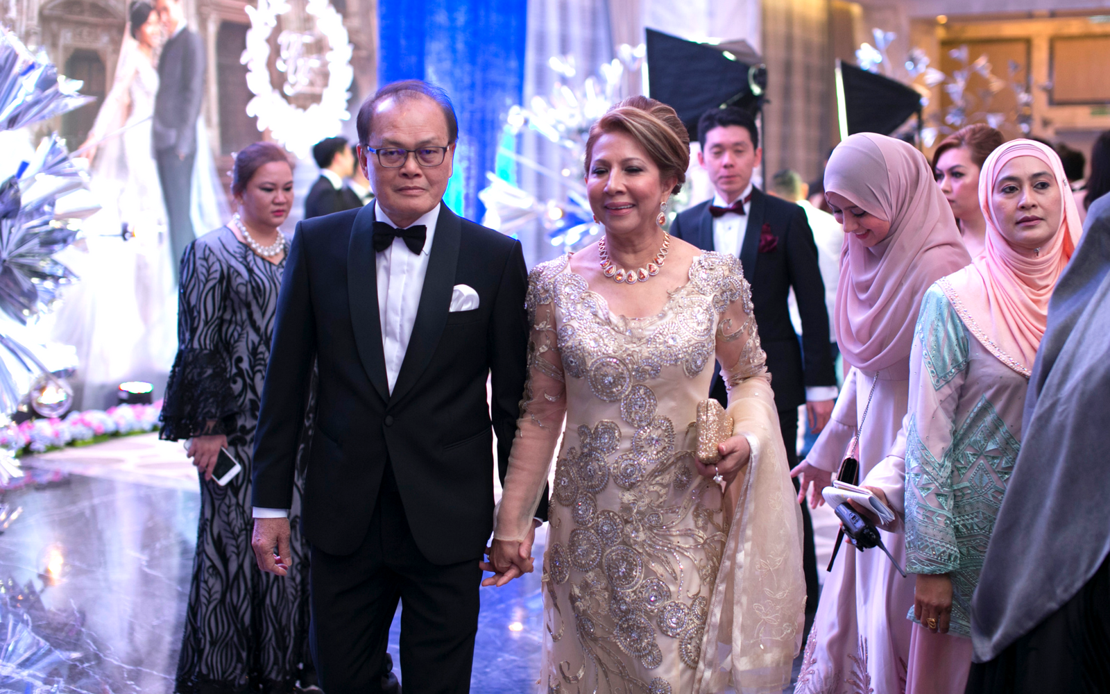 Groom's parents, Mr. Razali Zainudin and Mdm. Zaiton Istiar Hussain Khan