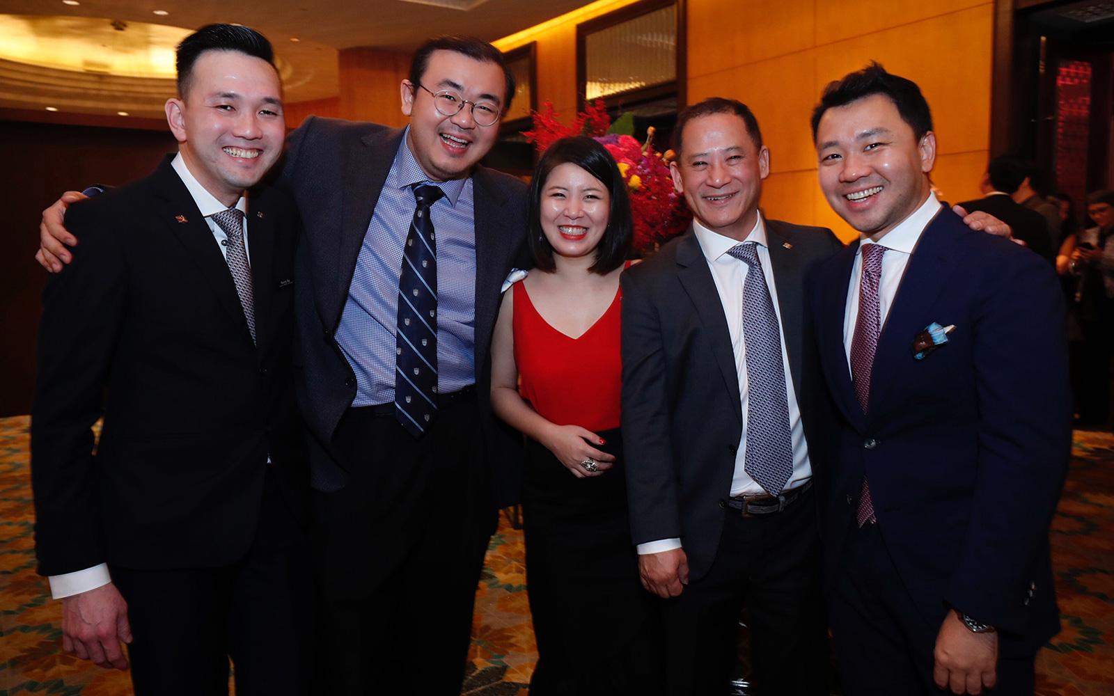 Kenny Ng, Dato Seri AK Tan, Ziling Lim, David Chan and Philix Ng