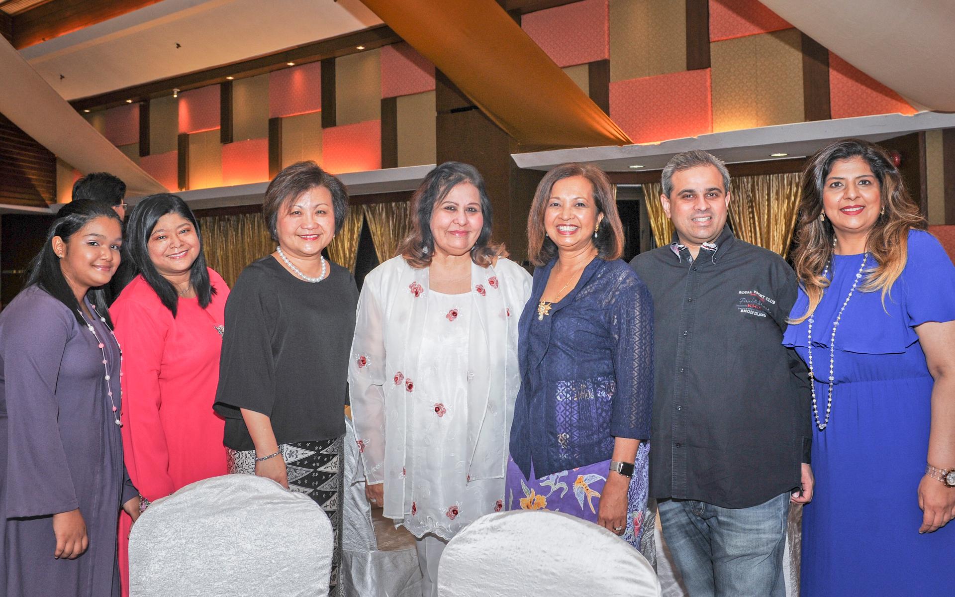 Sarah Safian, Azlina Safian, Datin Amy Ooi, Datin Champa Valiram, Datin Paduka Marina Mahathir, Sharan Valiram and Lavina Valiram