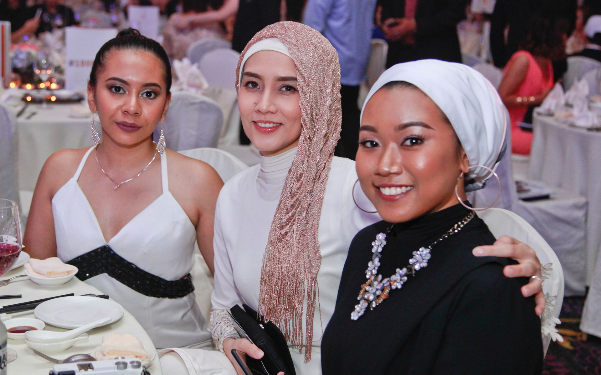 Natasha Qistina, Jehan Hamid and Shafiqah Hazarin