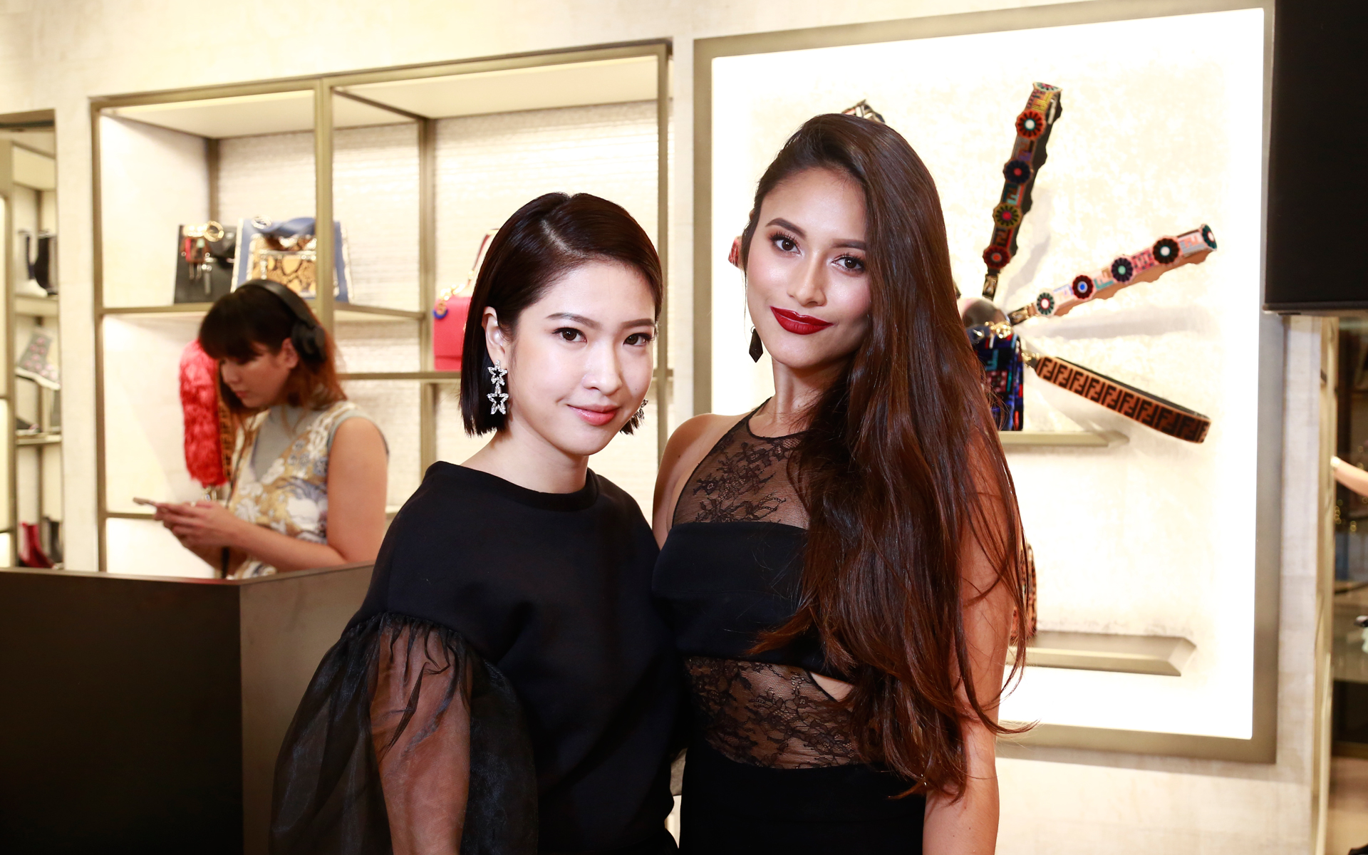 Bella Kuan and Tunku Elana Khyra