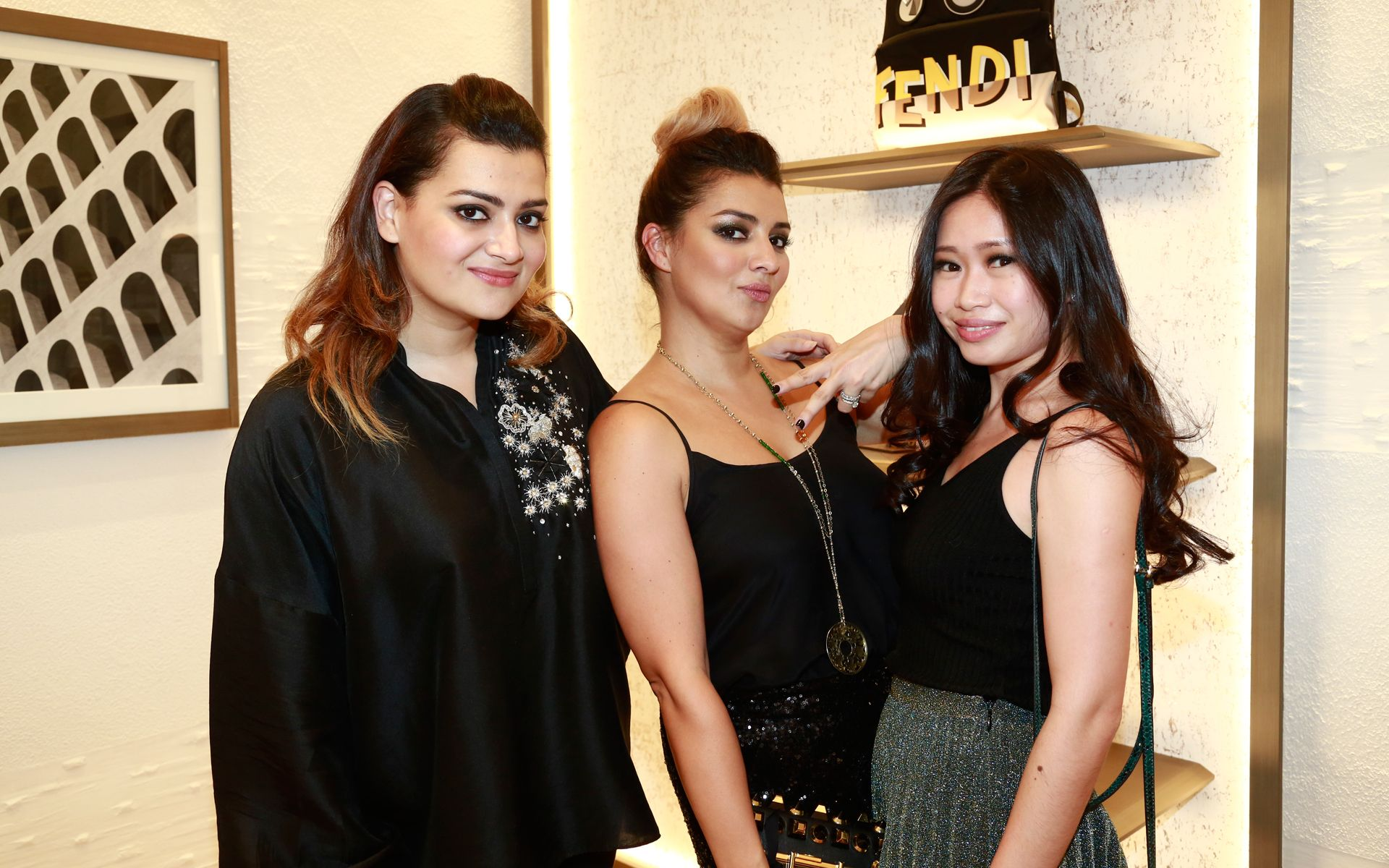 Zena Khan, Leila Khan and Lim May Shen