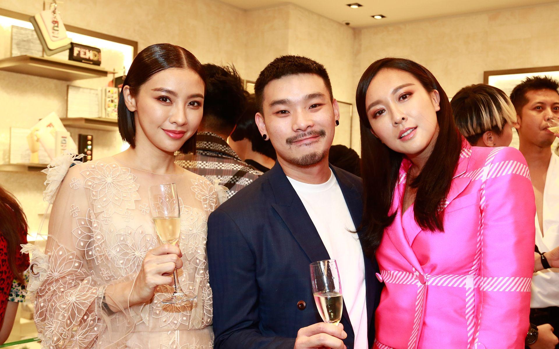 Cai Pei Xuan, Max Mak and Debbie Goh