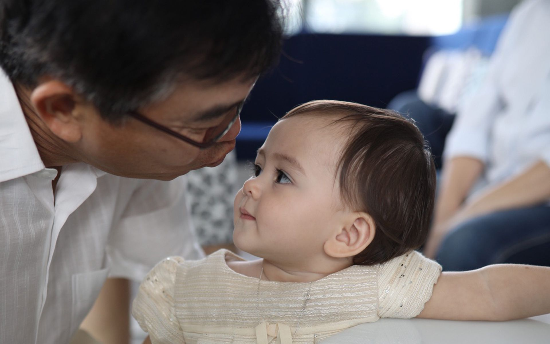 Low Seng Kee and his grandniece Olivia Hua Elliott