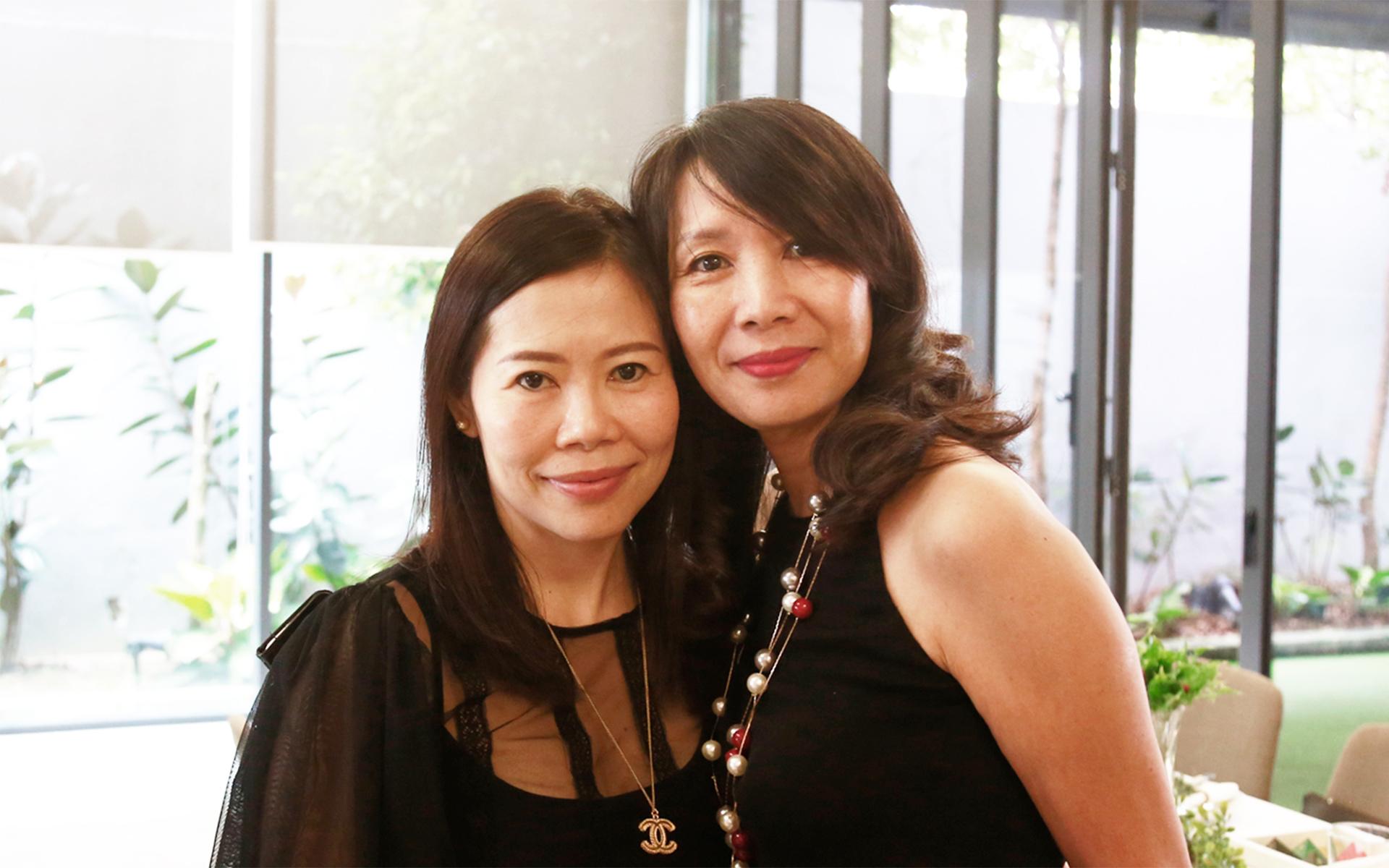 Stephanie Lian and Sally Seow