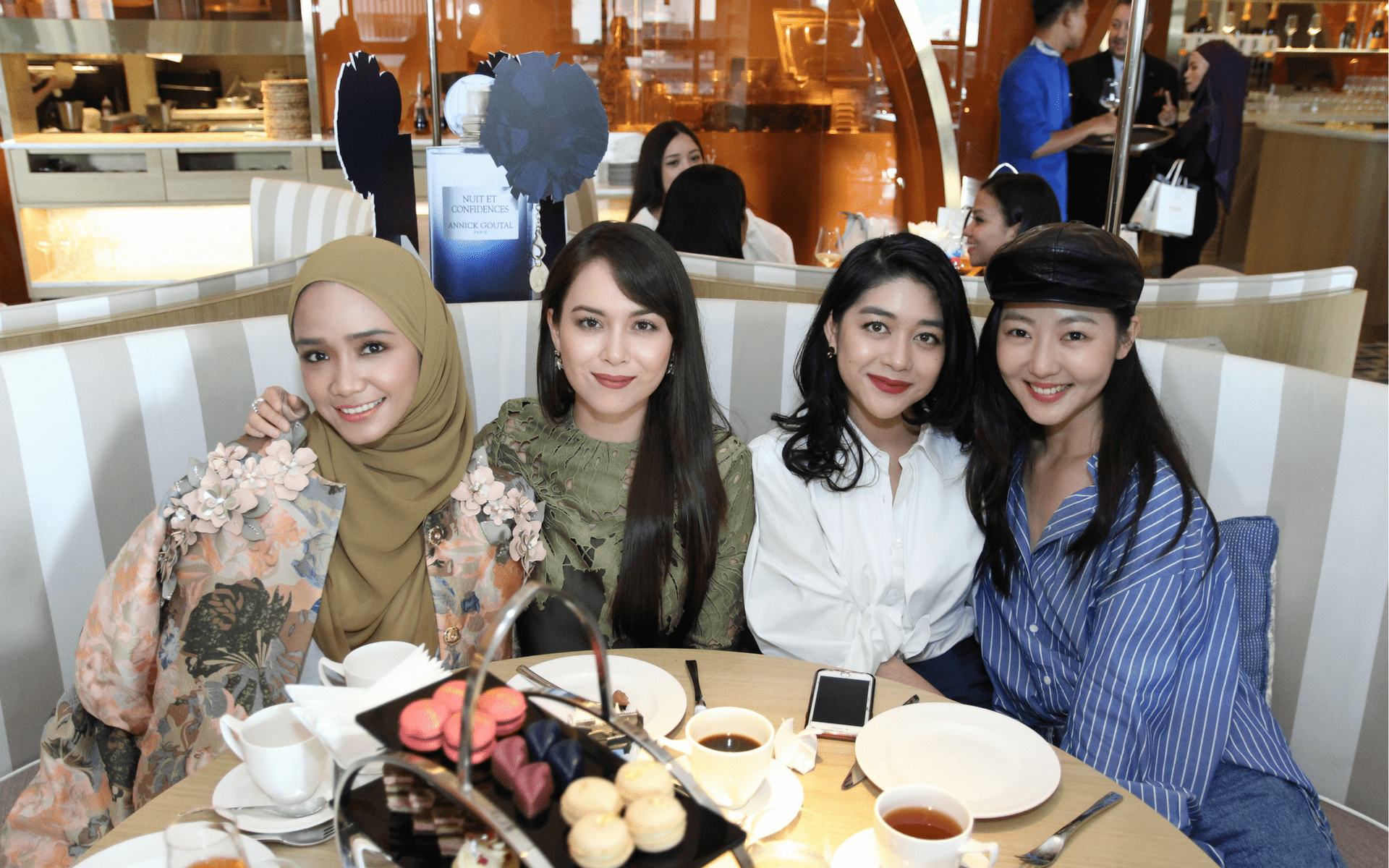 Ummi Nazeera, Siti Saleha, Ellie Norman and Jojo Goh