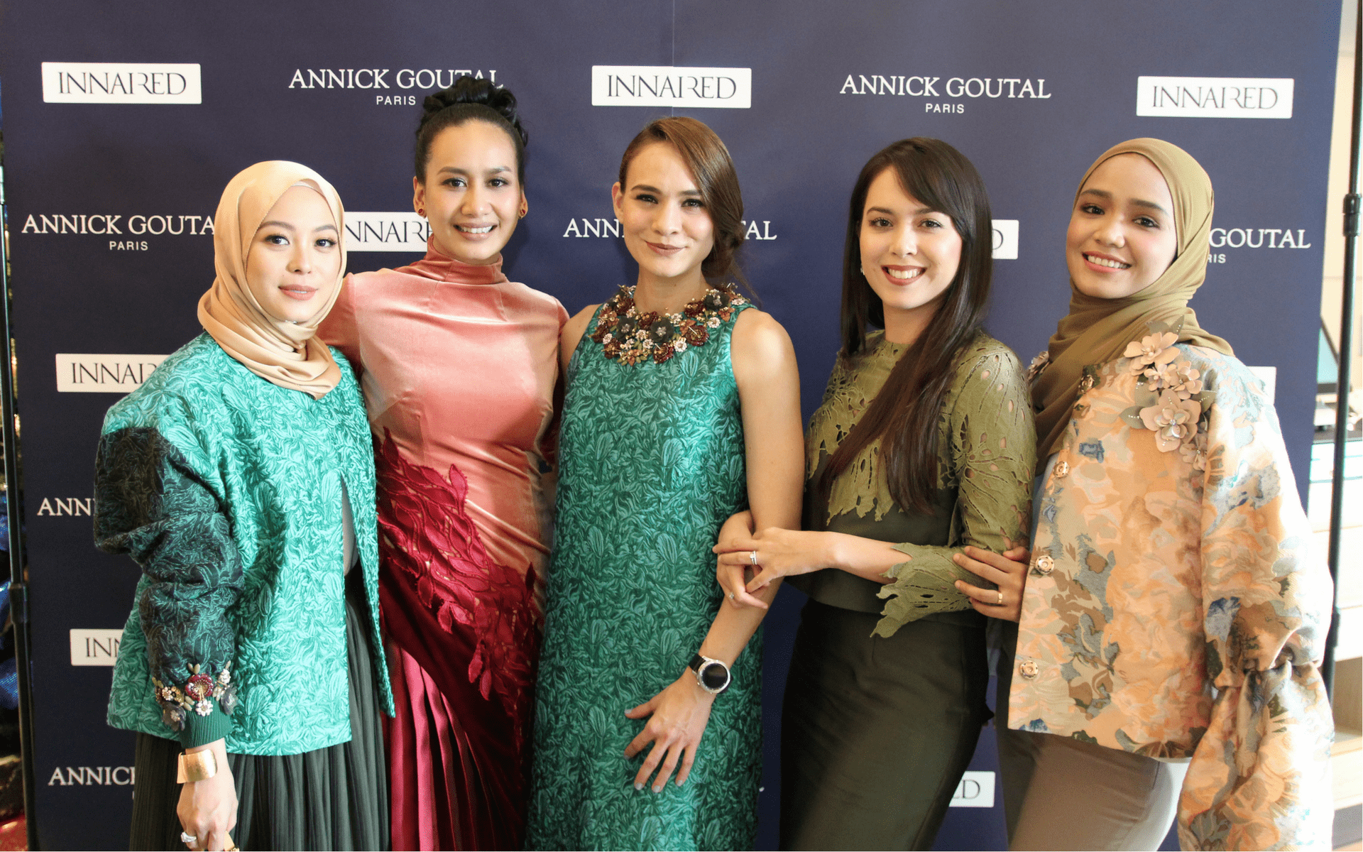 Datin Vivy Yusof, Marsha Milan, Aishah Sinclair, Siti Saleha and Ummi Nazeera