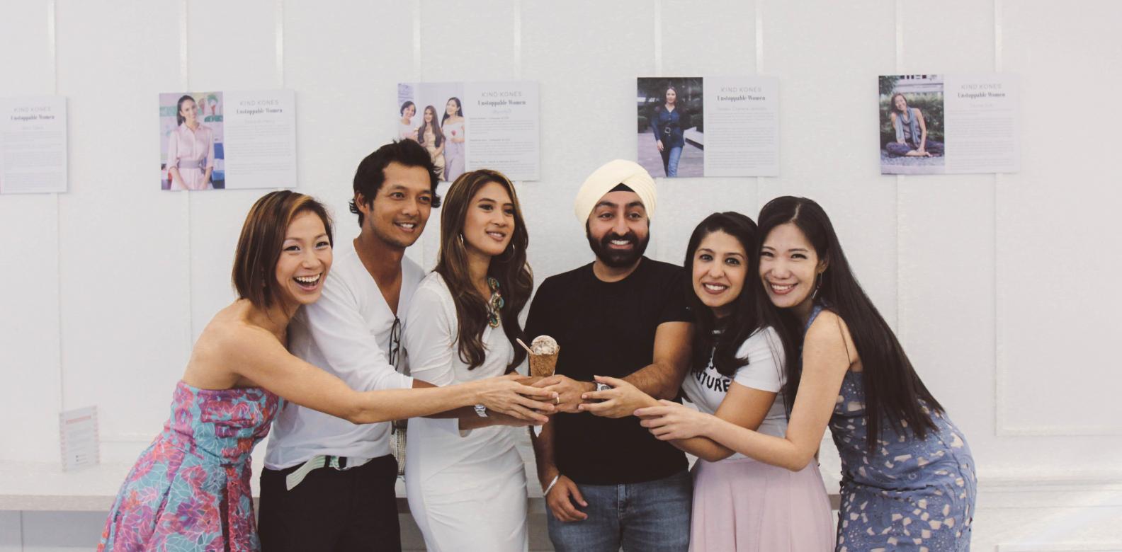 Davina Goh, Joey Azman, Jesrina Arshad, Ispal Bajaj, Kind Kones founder Serina Bajaj and Stephanie Looi