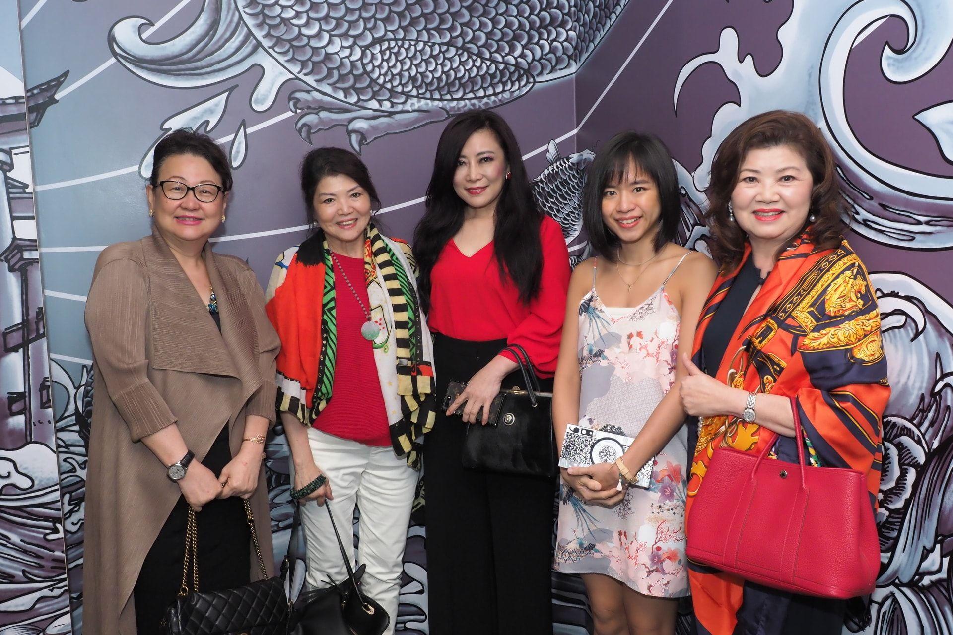Dato' Joyce Yap, Bahlee New, Datin Reiss Tiara, Natalie Cheng and Datin Jenny Yap