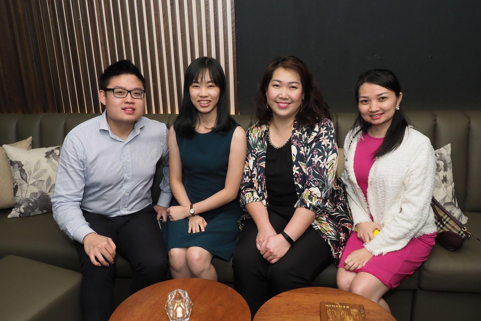Soon Guok Jie, Valencia Eyu, Alicia Yuen and Crystal Chan
