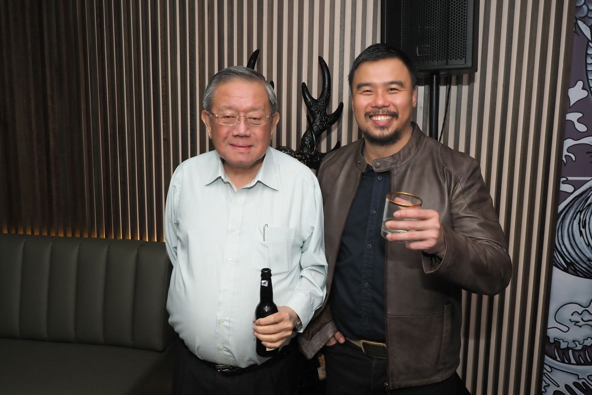 Tan Sri William Cheng and Shawn Lee