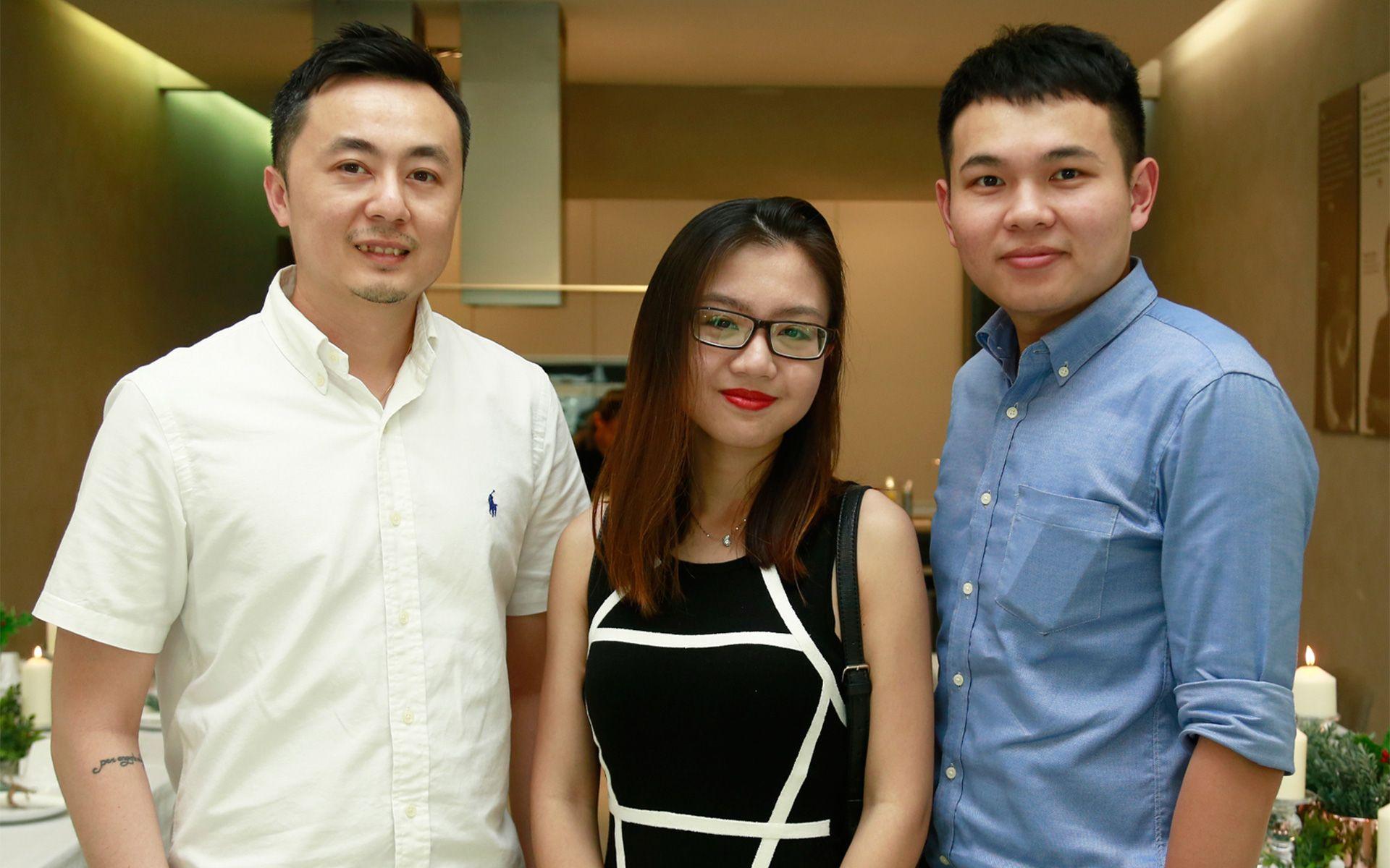 Anson Lim, Racheal Leong and Marcus Cheong