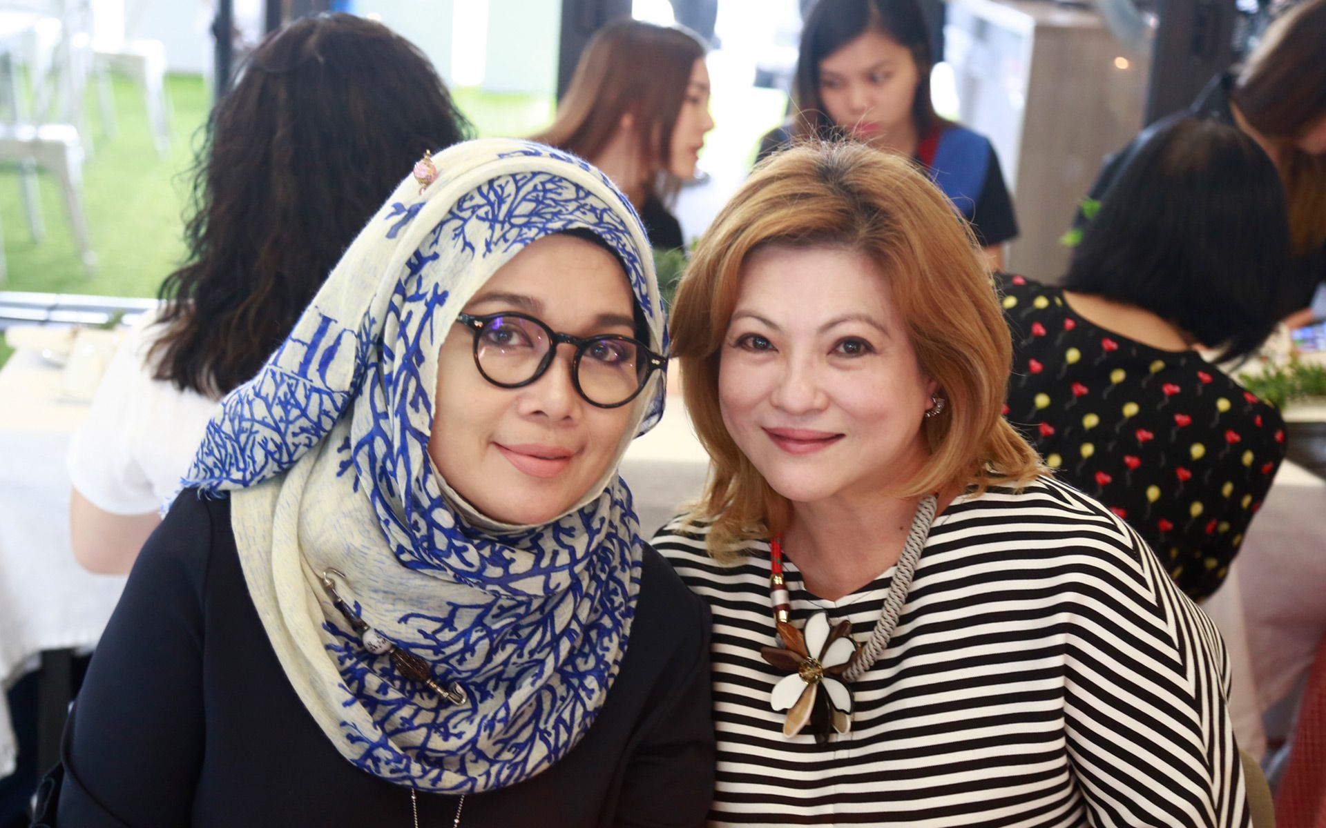 Datin Anna Zakaria and Datin Jude Khadijah