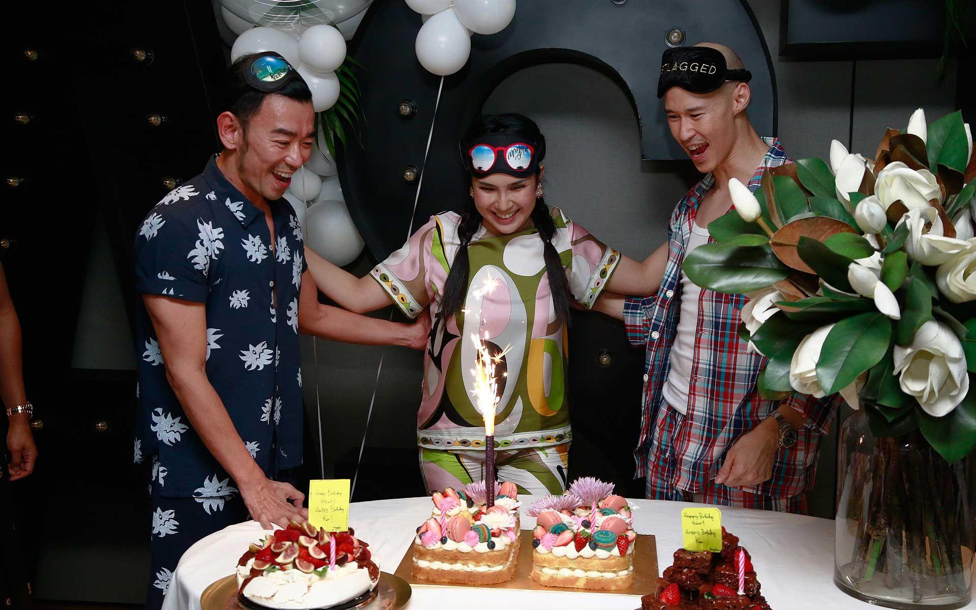 Ken Lim, Angela Karto and Hubert Hoi